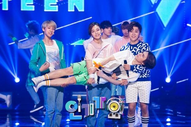 [OFFICIAL] 150717 SBS Inkigayo Update 11P #Seventeen #Adore_U #세븐틴 #아낀다 6