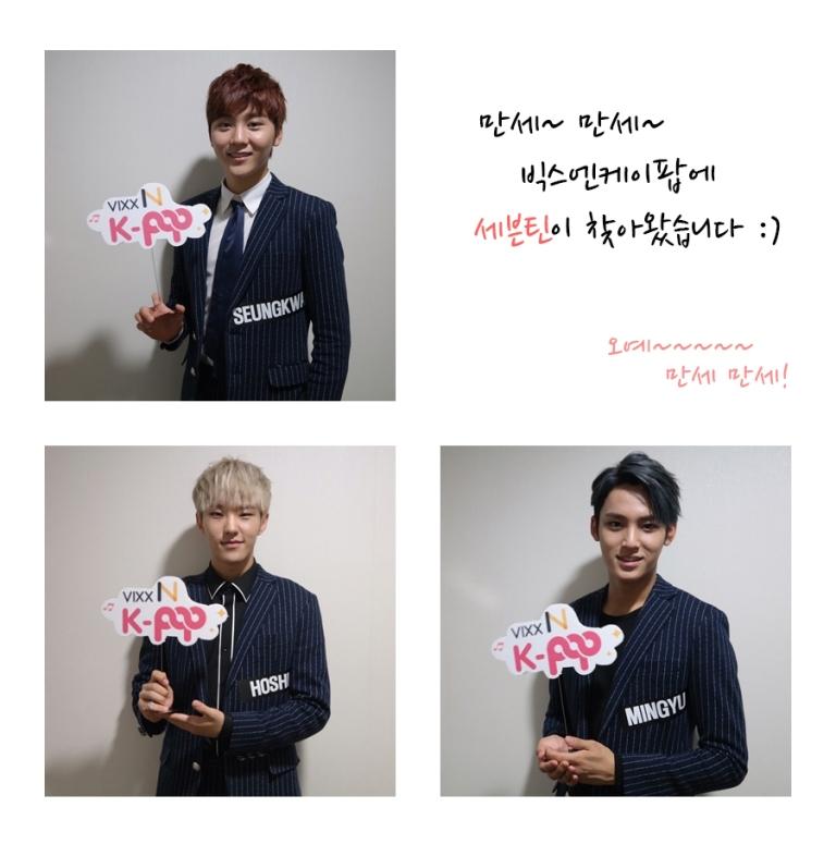 [OFFICIAL] 150924 VIXX N K-Pop Radio Photo Update with Seventeen #세븐틴 #만세 4