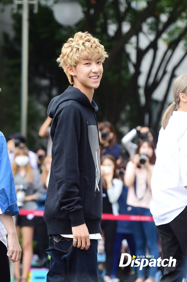 [PRESS] 150911 Seventeen heading to KBS Music Bank Rehearsal 12