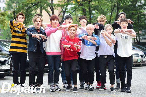 [PRESS] 150911 Seventeen heading to KBS Music Bank Rehearsal 2