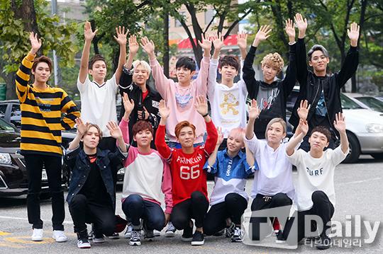 [PRESS] 150911 Seventeen heading to KBS Music Bank Rehearsal 7