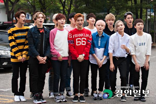 [PRESS] 150911 Seventeen heading to KBS Music Bank Rehearsal 8