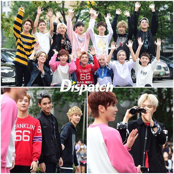 [PRESS] 150911 Seventeen heading to KBS Music Bank Rehearsal