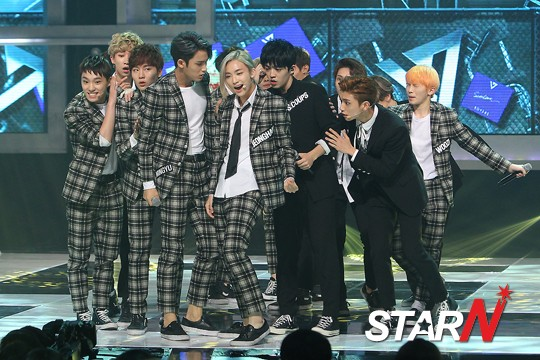 [PRESS] 150923 Seventeen at MBC Show Champion #세븐틴 #만세 14