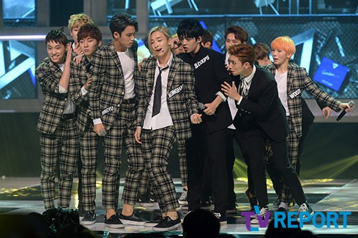 [PRESS] 150923 Seventeen at MBC Show Champion #세븐틴 #만세 3
