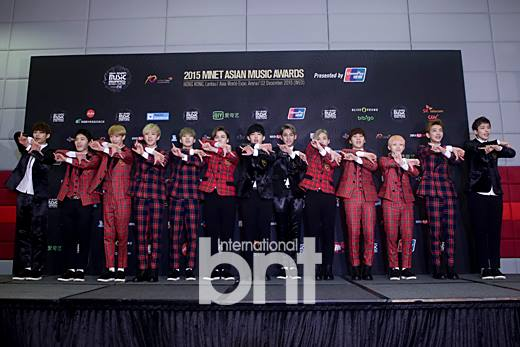 [PRESS] 151202 Seventeen at 2015 MAMA Artist Welcome Meeting #세븐틴 (54)