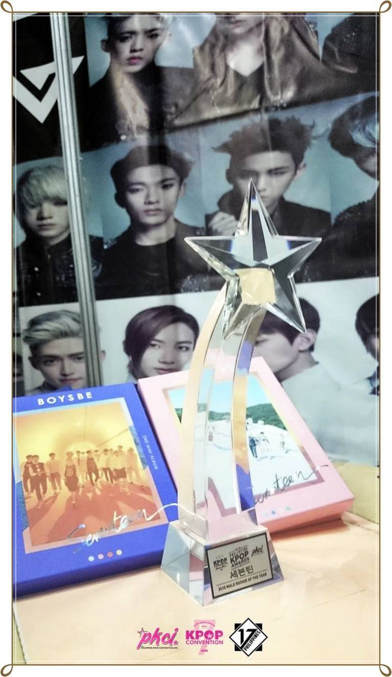 SEVENTEEN won the 2015 Male Rookie of the Year Award at the 7th Philippine KPOP Awards! (1)