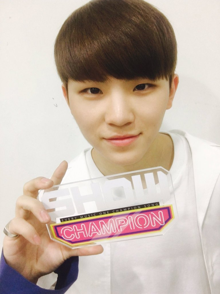 [OFFICIAL] 160504 MBC Show Champion Twitter Update #세븐틴 #예쁘다 (6)