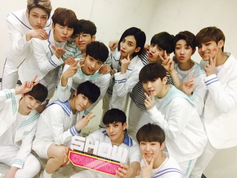 [OFFICIAL] 160511 MBC Show Champion Twitter Update #세븐틴 #예쁘다 (4)