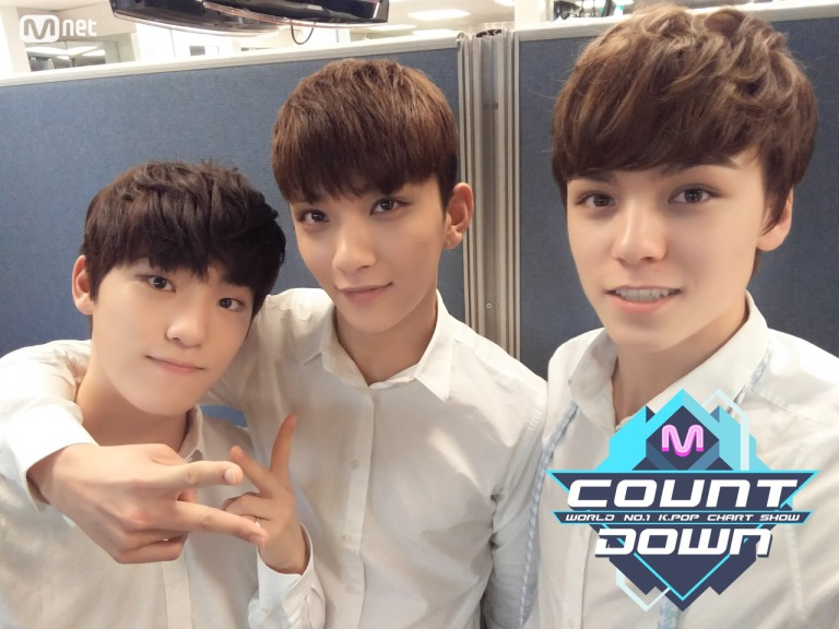 [OFFICIAL] 160512 MCOUNTDOWN Twitter Update #세븐틴 #예쁘다 (2)