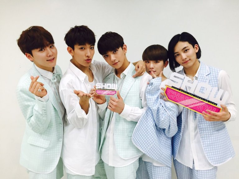 [OFFICIAL] 160518 MBC Show Champion Twitter Update #세븐틴 #예쁘다 1