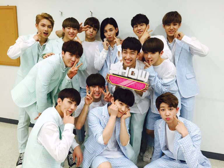 [OFFICIAL] 160518 MBC Show Champion Twitter Update #세븐틴 #예쁘다 4