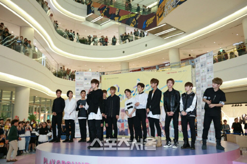 [PRESS] 160501 SEVENTEEN Fansign Event at Yongdeungpo Timesquare #세븐틴 #예쁘다 1
