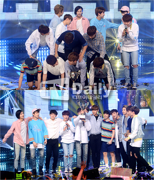 [PRESS] 160504 Seventeen 1st Win at MBC Show Champion #SEVENTEEN1stWin #PrettyU1stWin #세븐틴 #1위 #예쁘다 (26)