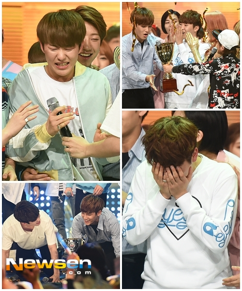 [PRESS] 160504 Seventeen 1st Win at MBC Show Champion #SEVENTEEN1stWin #PrettyU1stWin #세븐틴 #1위 #예쁘다 (69)