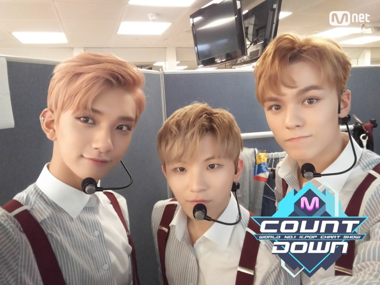 [OFFICIAL] 160707 MCOUNTDOWN Twitter Update #세븐틴 #아주NICE 3
