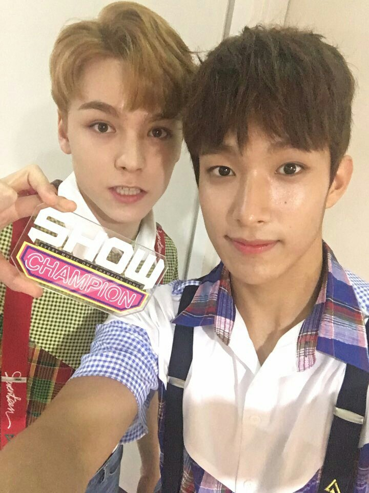 [OFFICIAL] 160713 MBC Show Champion Twitter Update #세븐틴 #아주NICE 3